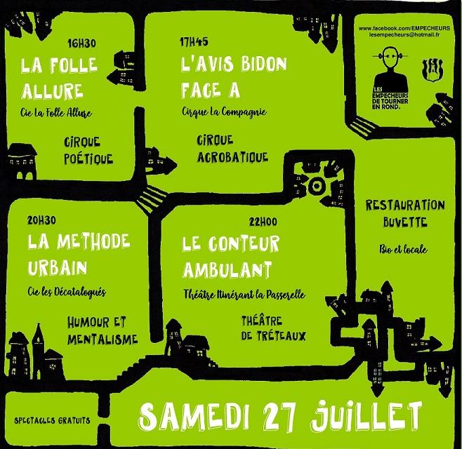 8ème Festival des arts de rue Samedi 27 juillet 2019