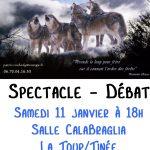 Le Bal des Loups : spectacle débat samedi 11 janvier 2020