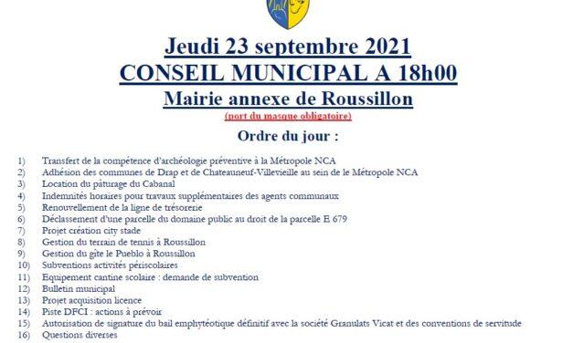 AFFICHE CONSEIL DU 23/09
