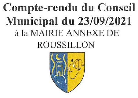 CR Conseil Municipal 23/09/2021