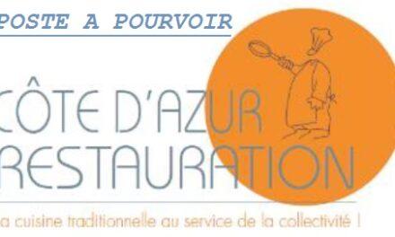 COTE D'AZUR RESTAURATION RECRUTE