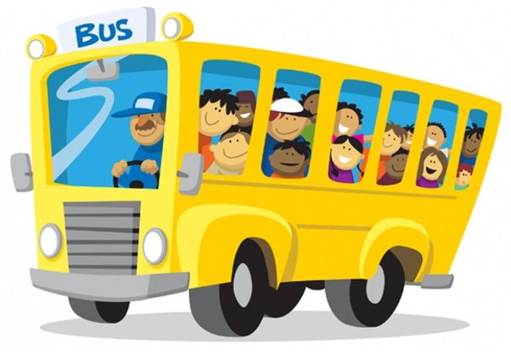 Bus scolaire collégiens