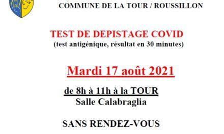LA TOUR CAMPAGNE DE DEPISTAGE