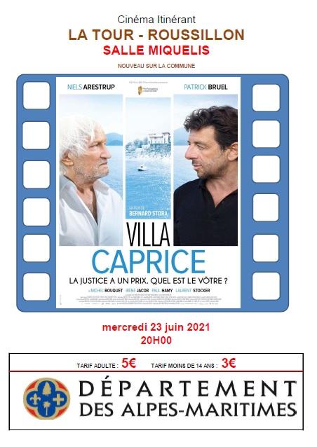CINEMA – SALLE MIQUELIS – 23/06/2021