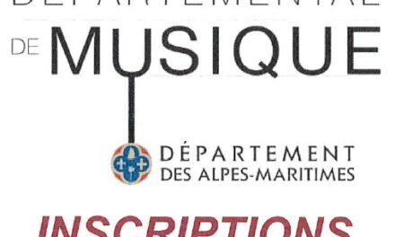 INSCRIPTIONS CONSERVATOIRE DE MUSIQUE